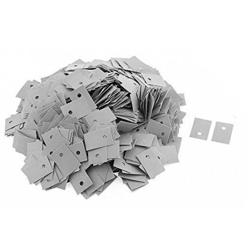 eDealMax a15082600ux0170 TO-220 Silicone Pad thermique Conduction CPU Sheet Chip Dissipateur, 1000 Piece, 20 mm x 13 mm by eDealMax