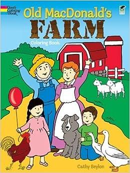 amazoncom old macdonalds farm coloring book dover coloring books 9780486430348 cathy beylon coloring books books - Dover Coloring Book