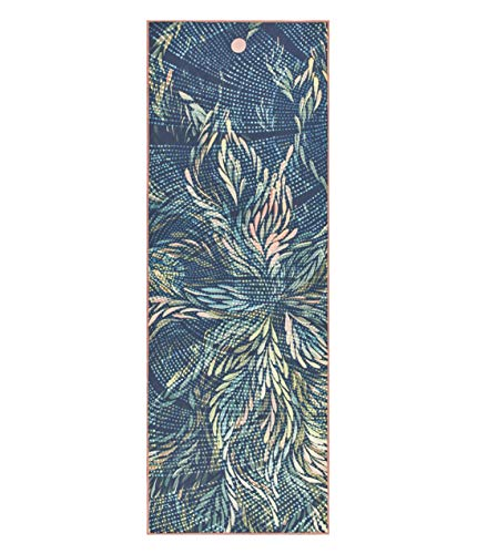 Yogitoes Yoga Mat Towel - Non Slip, Sweat Wicking with Patented Skidless Technology, Highly Absorbent, Soft and Sustainable Mat Towel for Yoga, Pilates, Gym and Outdoor Fitness, Flora, 68'