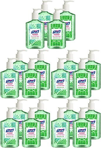 Purell 9674-06-ECDECO Advanced Design Series Hand Sanitizer, 8 oz Bottles (Pack of 20) by Púrell (Image #8)'