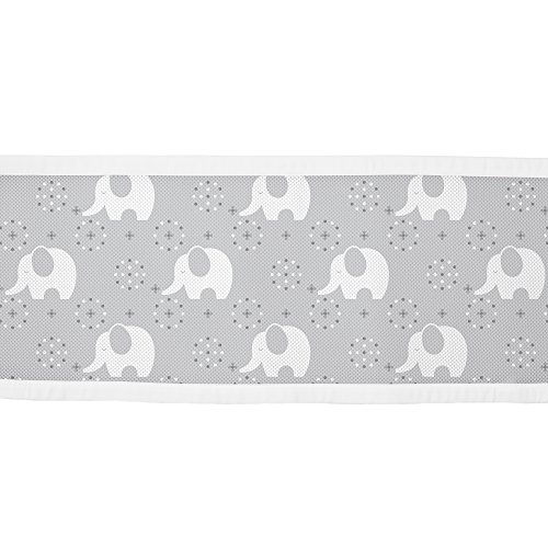 BreathableBaby-Classic-Mesh-Crib-Liner-Gray