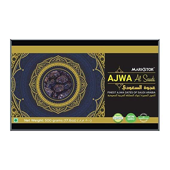 Markstor Ajwa Al-Saudi Finest Ajwa Dates of Saudi Arabia (500g)