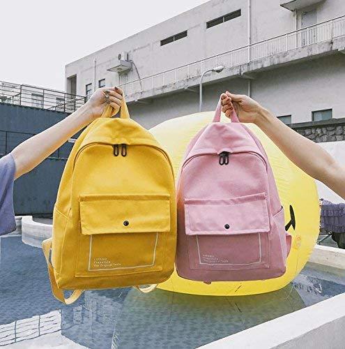 de7d63fb51 Marcu Home Zainetto Pretty Backpack Fashion Schoolbag Schoolbag Schoolbag Zaino  Zaino da Viaggio a Tinta Unita in Tela Casual cb76e0