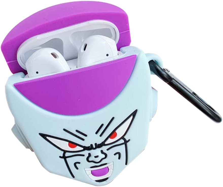 Raleighsee Anime Naruto Cartoon Creative AirPods1//2 Generation Silicone Protective Case Scratch-Proof Anti-Fall Portable Bluetooth Headphone Box Protective Cover Frieza