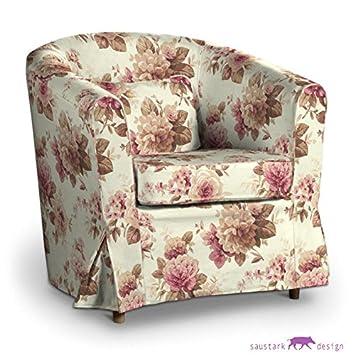 saustark design slip cover for ikea ektorp tullsta armchair in edinburgh floral print beige erfahrung