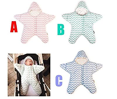sea-junop Baby Small Starfish Cotton Winter Thicker Models Warm Light Weight Sleeping Bag