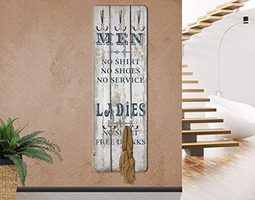 Perchero de pared de No, RS181 para hombre y mujer de letras ...