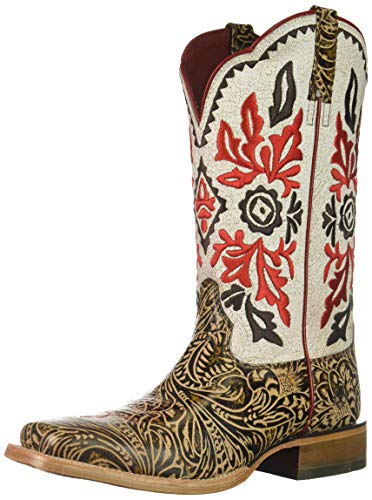 - Ariat Women's WESTERN MAGNOLIA Boot, naturally tooled brown, 8.5 B US