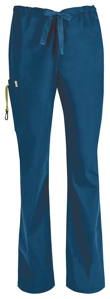 Code Happy Men's Big and Tall Bliss with Certainty Drawstring Scrub Cargo Pant, Royal, 5X-Large