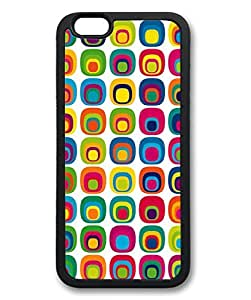 """iPhone 6 Case, iCustomonline Geometric Patterns Colorful Case for iPhone 6 (4.7"""") Rubber Black"""