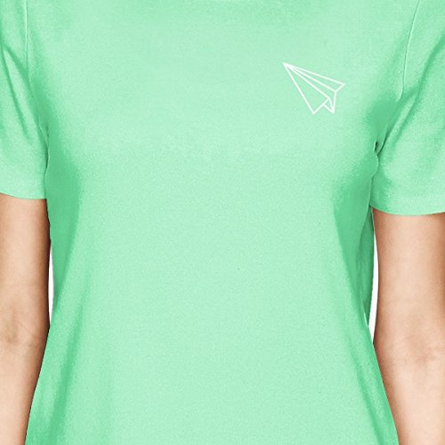 365 Mint Origami Boat una corta mujer pieza Camiseta para Printing de manga and de Plane RqZrRw