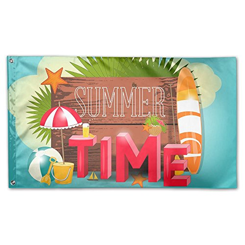 BINGOGO Decorative House Flags - Summer Time Beach Outdoor S