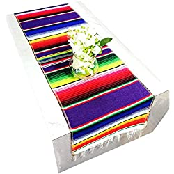 GoodtoU Mexican Table Runner - Serape Blanket Fiesta Decorations Serape Table Runner Cinco De Mayo Decorations for Mexican Party Wedding Family Outdoor Decorations (14 x 84 inch)