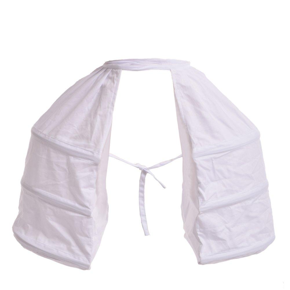 Women's Renaissance Double White Pannier Undergarment - DeluxeAdultCostumes.com