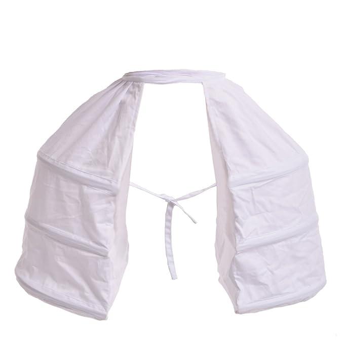 encontrar mano de obra precios increibles comprar genuino BLESSUME Victoriano Vestir Doble Cesto Enaguas, Blanco,Taille único