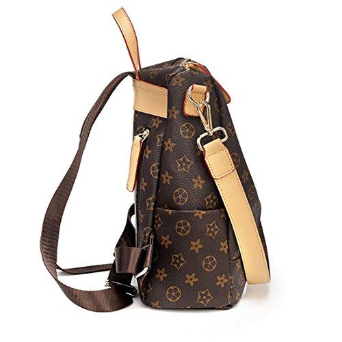 Zipper Women Purse Handbags for Leather One PU Backpack Leather Fashion Shoulder Closure Bag Designer nBIqW7U