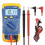 GOCHANGE LCD Digital Multimeter / Volt Amp Ohm Meter/ AC DC Voltmeter Multimeter with Spotlight Backlight Fit for Schools, Factories, Families and Amateur Wireless Lovers