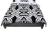 KESS InHouse Pom Graphic Design ''Africa'' Black White King / Cal King Comforter, 104'' X 88''