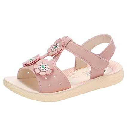 Baby Girls Flower Summer Sandals Infant Toddler Kids Hook Princess Beach Shoes