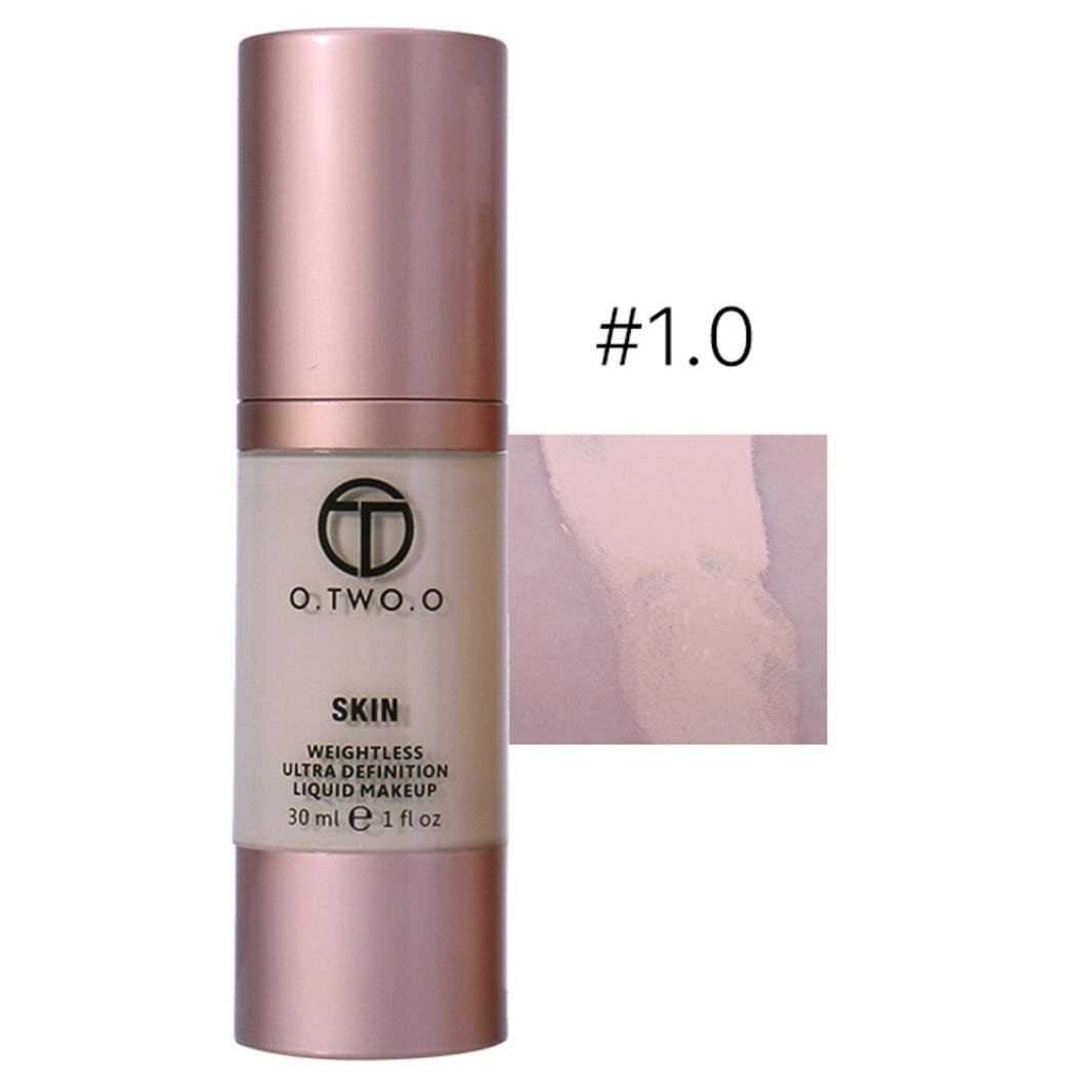 Ourhomer O.Two.O N8004 Long Lasting 4 Colors Foundation Make up Concealer Basis Face Glow Liquid Foundation Cream (A)