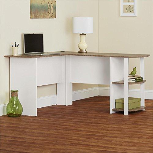 Ameriwood Home Dakota L Shaped Desk With Bookshelves