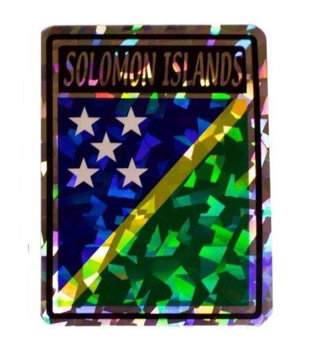 - K's Novelties Solomon Islands Country Flag Reflective Decal Bumper Sticker