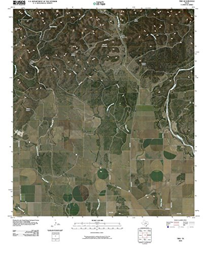 - Texas Maps | 2010 Trio, TX USGS Historical Topographic | Cartography Wall Art | 44in x 55in