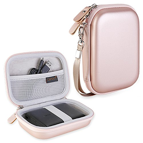 Canboc Shockproof Hard Carrying Case for Anker PowerCore 13000 Portable Charger - Compact 13000mAh 2-Port Ultra Portable Phone Charger Power Bank External Battery Storage Travel Box, Rose - Cell Case Organizer Phone
