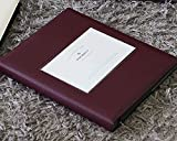 Lovely Self Adhesive Photo Album Book Scrapbooking Scrapbook Magnetic Album , PU Leather, 40 Pages Holds 3X5, 4X6, 5X7, 6X8 photos, Square Front Window (Burgundy)