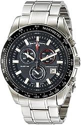 Swiss Legend Men's 10611-11-BB Altitude Analog Display Swiss Quartz Silver Watch