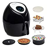 Total Package Air Fryer, 8-in-1 Digital Screen, with Endless Recipes, and Deluxe Accessory Kit by...