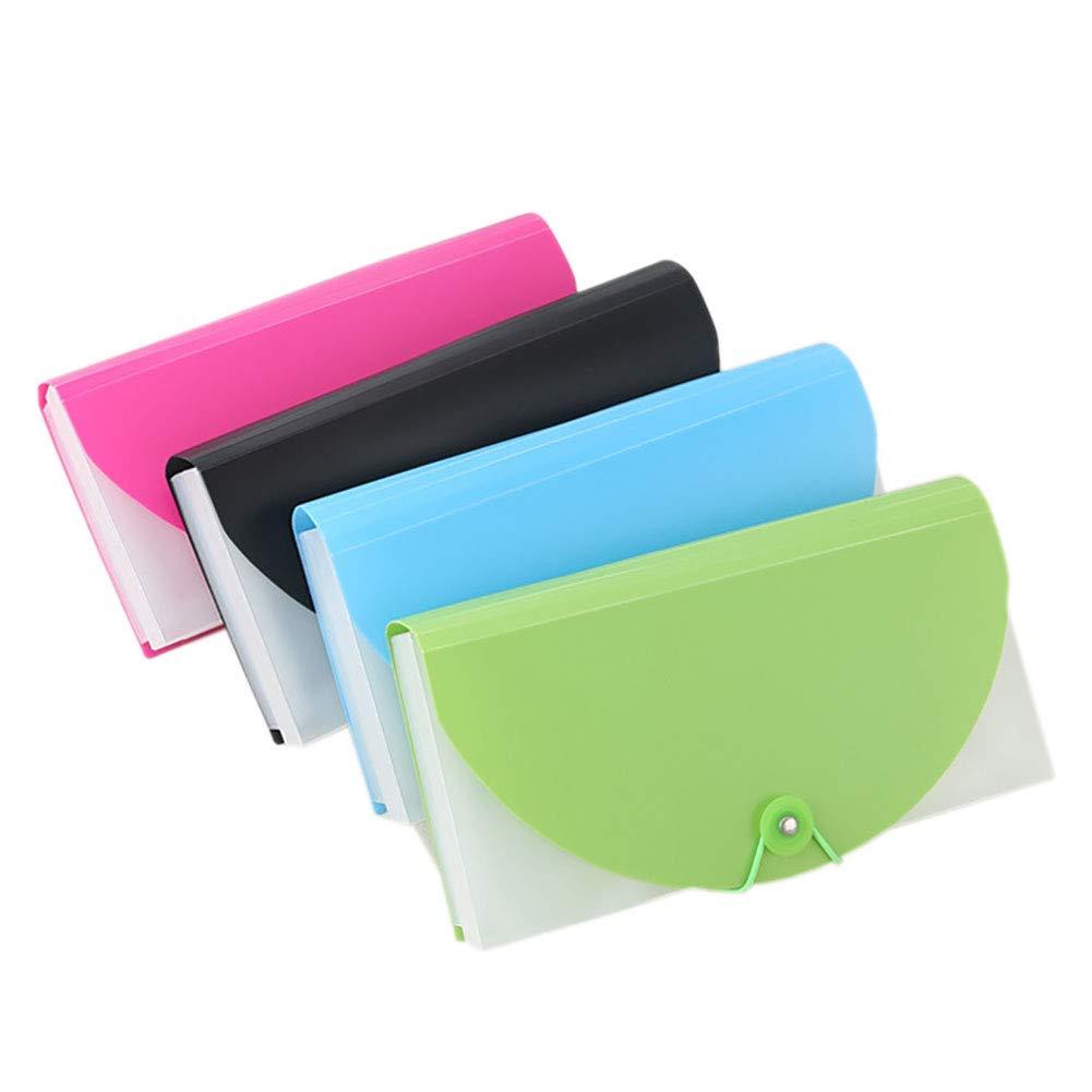 Officeship dimensioni per scontrini e controlli 12 pcs Assorted Color formato A6 per ufficio e studenti Cartellina portadocumenti con 13 tasche