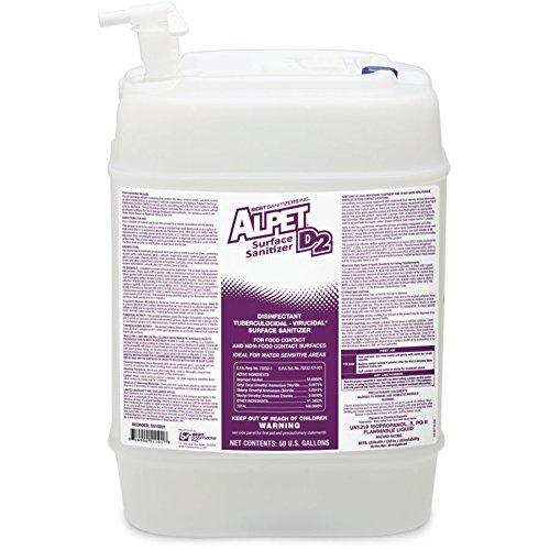 Best Sanitizers SS10002 Alpet D2 Surface Sanitizer, 5 Gallon Pail with Spigot