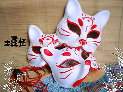 2015 - Vintage Hand- painted Mask Endulge Japanese Paper Mask Full Face Halloween Masquerade Party Masks