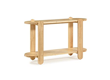 Now House by Jonathan Adler Josef Console Table, Blonde Wood