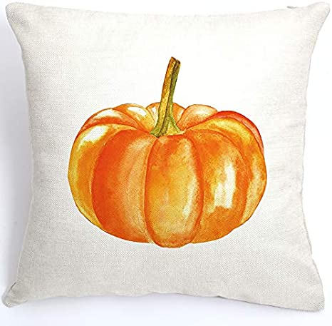 Amazon Com Axsl Fall Pumpkin Throw Pillow Cover Autumn Decor Pumpkins Pillow Cuhion Cover Case For Couch Sofa Home Decoration Fall Pillows Linen 18 X 18 Inches Home Kitchen
