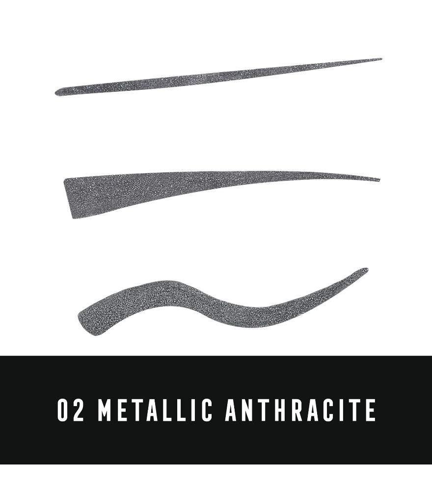 Max Factor Colour X-Pert Waterproof Eyeliner, 2 Metallic Anthracite