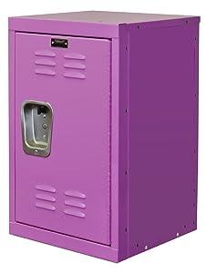 """Hallowell HKL151524-1BG Kid Mini Locker, 15"""" Width x 15"""" Depth x 24"""" Height, Single Tier, 1-Wide, Knock-Down, 1133 Bubble Gum"""