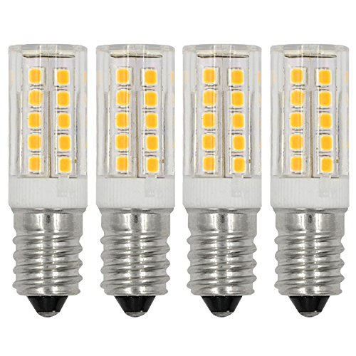 (Lacnooe E12 LED Light Bulbs C7 bulb 5W Warm White 2700K 110V 120V Candelabra Bulb E12 Base 40W Incandescent Bulbs Equivalent (4-pack))