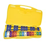 ammoon 25 Notes Glockenspiel Xylophone Percussion Rhythm Teaching Instrument Toy with 2 Mallets Handheld Case