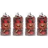 Hosley Apple Cinnamon Potpourri- 16 Oz. Bonus Buy 4 Bags / 4 Oz Each. Ideal Gift for Weddings, Party Favor, for Dried Floral Arrangements in Spa, Reiki, Meditation, Bathroom Settings O4