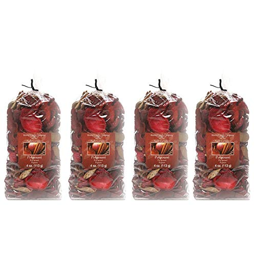 Hosley's Apple Cinnamon Potpourri- 16 Oz. Bonus Buy 4 Bags / 4 Oz Each. Ideal for dried floral arrangements or with Orbs, Potpourri or Just As Decor Hosley Candle Company FBA_H44379WD