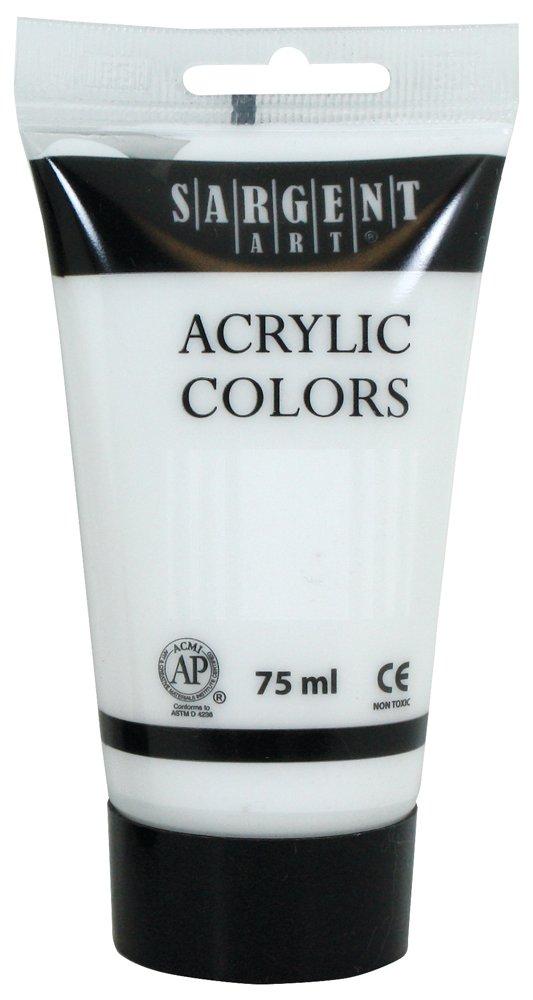 Sargent Art 23-0296 75Ml Tube Acrylic Paint, Titanium White