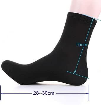 Monment Calcetines de grasa para hombre Calcetines de tubo de algodón 100% Calcetines de primavera y verano para hombres Calcetines largos grandes para hombres (10 * negro): Amazon.es: Ropa y accesorios