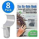 No-Hole Hooks Vinyl Siding Hooks for Hanging 8 Pack, Heavy Duty Light Mailbox Planter Hanger 8 Pack