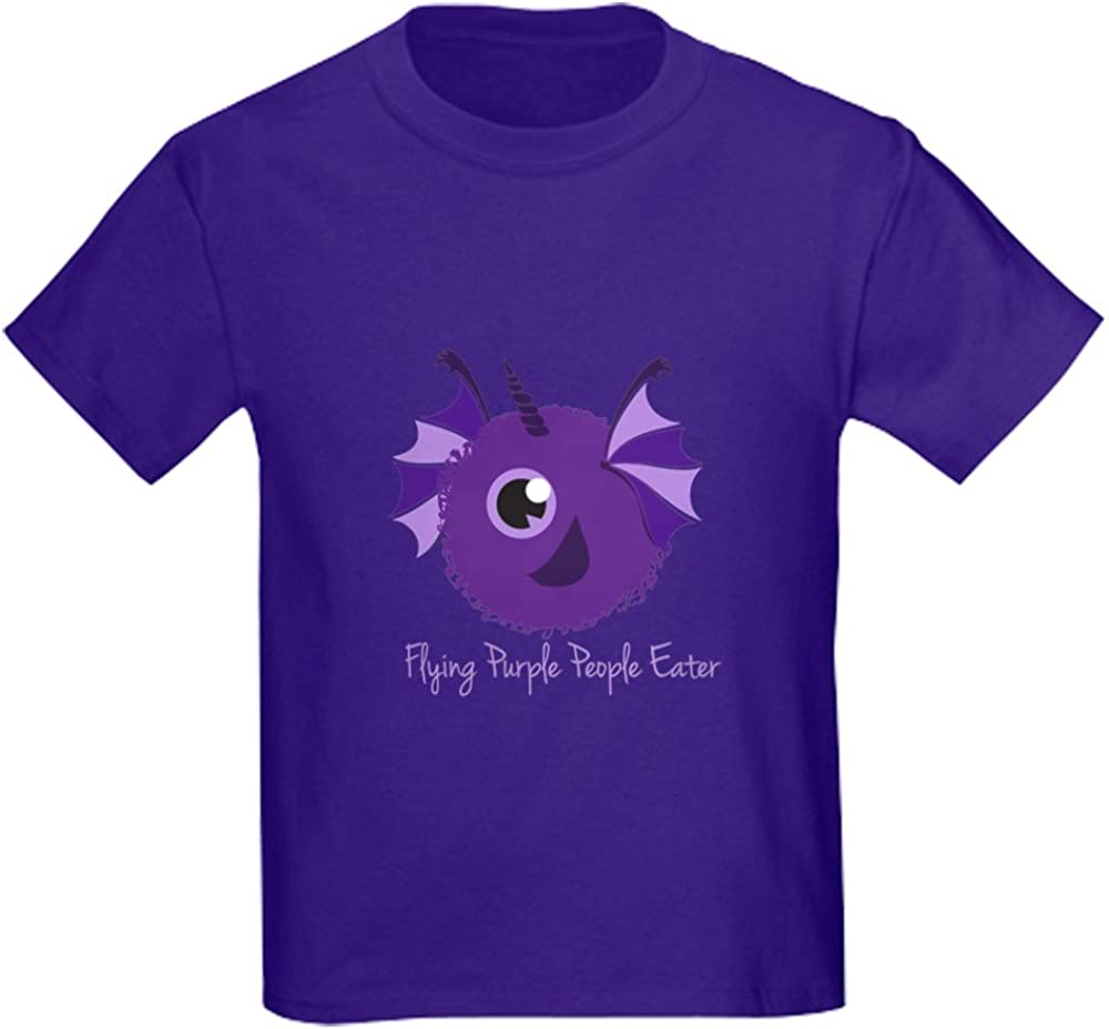 CafePress Youth Kids Cotton T-Shirt Flying Purple People Eater T-Shirt