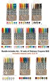 Ranger Tim Holtz 60: Distress Crayons Sets 1,2,3,4,5,6,7,8,9,10