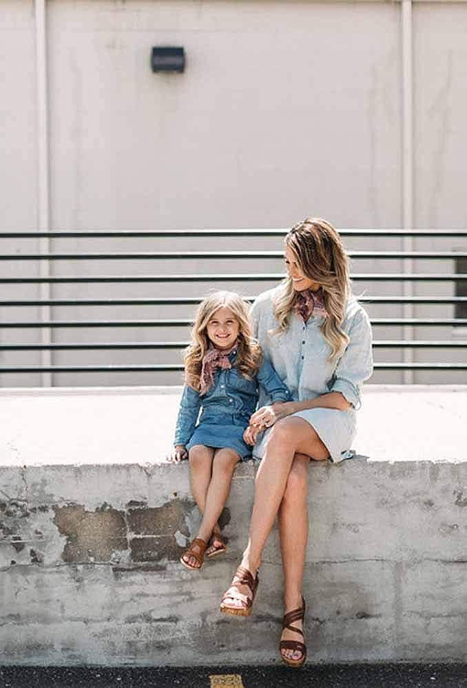 2a35cac458f7 Vestido De Mezclilla para Damas Camisa Vaquera De Niña Bebé Vestido De Manga  Larga Ropa para Padres E Hijos: Amazon.es: Ropa y accesorios
