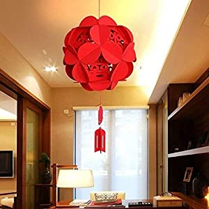 Chinese Style Artificial Flowers, 3 Size Mixed Red Color (Dia 23cm, 28cm, 33cm) Wedding Party Outdoor Decoration 69