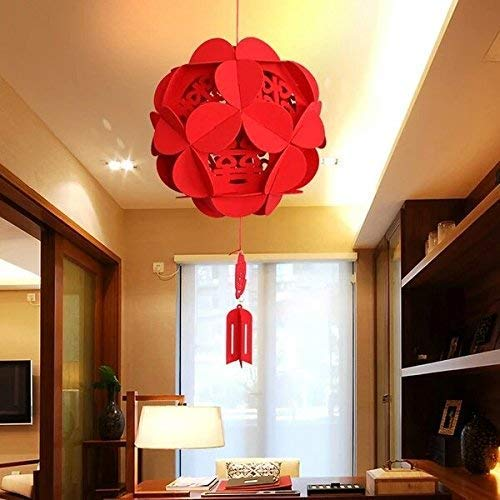 Chinese Style Artificial Flowers, 3 Size Mixed Red Color (Dia 23cm, 28cm, 33cm) Wedding Party Outdoor Decoration]()
